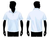 Modello della camicia di polo Fotografie Stock