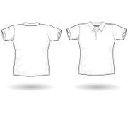 Modello della camicia di polo Immagini Stock Libere da Diritti