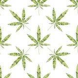 Modello della cannabis illustrazione vettoriale