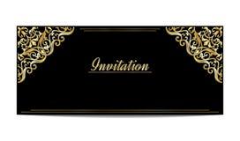 Modello della carta d'annata dell'invito o di saluto Fotografie Stock Libere da Diritti