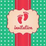 Modello della carta dell'invito Fotografie Stock