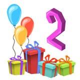 Modello della carta dell'invito della festa di compleanno immagine stock