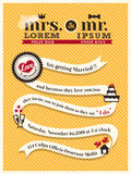 Modello della carta dell'invito di nozze Immagini Stock