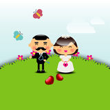 Modello della carta dell'invito di nozze Fotografia Stock