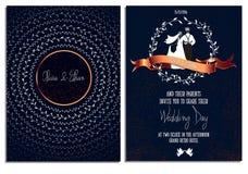 Modello della carta dell'invito di nozze Stampa pronta Immagine Stock
