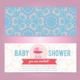 Modello della carta della doccia di bambino Fotografie Stock