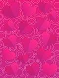 Modello della carta di giorno di biglietti di S. Valentino con i cuori Fotografie Stock