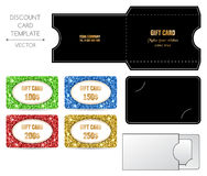 Modello della carta di regalo Immagine Stock