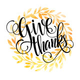 Modello della carta di ringraziamento Acquerello dipinto illustrazione vettoriale