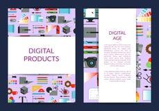 Modello della carta di vettore per progettazione digitale di arte illustrazione vettoriale