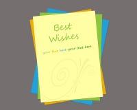 Modello della cartolina d'auguri royalty illustrazione gratis