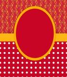 Modello della cartolina d'auguri/dell'invito Immagini Stock