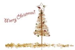Modello della cartolina di Natale Immagini Stock Libere da Diritti