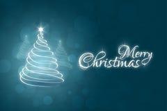 Modello della cartolina di Natale Immagini Stock