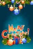 Modello della cartolina di Natale Fotografia Stock Libera da Diritti