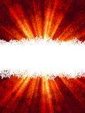 Modello della cartolina di Natale dei raggi delle luci rosse. ENV 8 Fotografia Stock Libera da Diritti