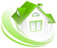 Modello della casa con il cerchio Fotografia Stock Libera da Diritti
