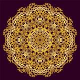 Modello della circolare dell'oro Fotografie Stock