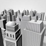 modello della città 3D Immagini Stock