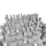 modello della città 3D Immagine Stock Libera da Diritti