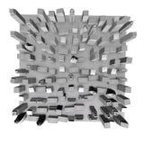 modello della città 3D Fotografia Stock