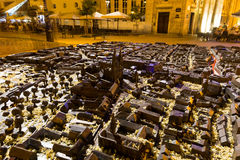 Modello della città di Zagabria: Fotografia Stock