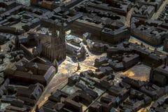 Modello della città di Zagabria Immagine Stock Libera da Diritti