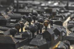 Modello della città di Zagabria Immagini Stock Libere da Diritti