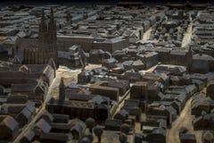 Modello della città di Zagabria Immagini Stock