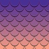Modello della coda della sirena Fondo della pelle del pesce tagliato carta 3d Colori luminosi di spettro illustrazione di stock
