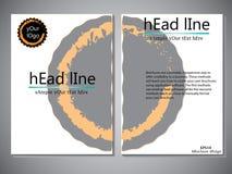 Modello della copertina di libro per l'opuscolo, aletta di filatoio, rapporto annuale Illustrazione EPS10 di progettazione di vet Fotografia Stock