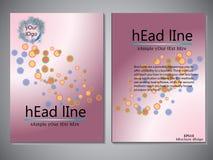 Modello della copertina di libro per l'opuscolo, aletta di filatoio, rapporto annuale Illustrazione EPS10 di progettazione di vet Immagini Stock Libere da Diritti
