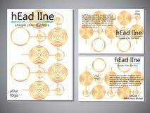 Modello della copertina di libro per l'opuscolo, aletta di filatoio, rapporto annuale Illustrazione EPS10 di progettazione di vet Fotografie Stock Libere da Diritti