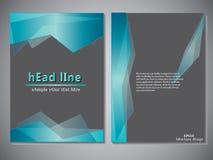 Modello della copertina di libro per l'opuscolo, aletta di filatoio, rapporto annuale Illustrazione EPS10 di progettazione di vet Fotografie Stock