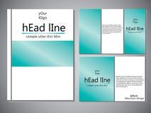 Modello della copertina di libro per l'opuscolo, aletta di filatoio, rapporto annuale Illustrazione EPS10 di progettazione di vet Immagine Stock Libera da Diritti