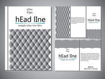 Modello della copertina di libro per l'opuscolo, aletta di filatoio, rapporto annuale Illustrazione EPS10 di progettazione di vet Immagine Stock