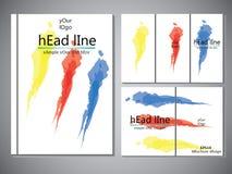 Modello della copertina di libro per l'opuscolo, aletta di filatoio, rapporto annuale Illustrazione EPS10 di progettazione di vet Fotografia Stock Libera da Diritti