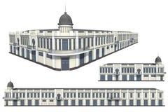 Modello della costruzione Immagine Stock
