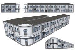 Modello della costruzione Immagini Stock Libere da Diritti