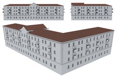 Modello della costruzione Fotografie Stock Libere da Diritti