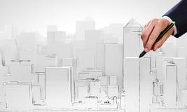 Modello della costruzione Immagini Stock
