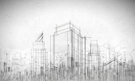 Modello della costruzione immagine stock libera da diritti