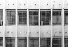 Modello della costruzione della facciata in alloggio moderno dell'appartamento Estratto Immagine Stock