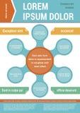 Modello della disposizione del documento Elementi di Infographic Immagini Stock Libere da Diritti
