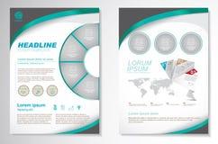 Modello della disposizione di progettazione dell'aletta di filatoio dell'opuscolo di vettore Infographic Fotografie Stock Libere da Diritti