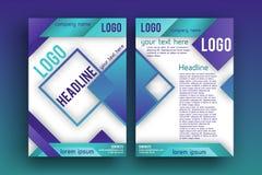 Modello della disposizione di progettazione dell'opuscolo di vettore Immagini Stock