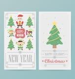 Modello della disposizione di progettazione della cartolina di Natale Fotografia Stock Libera da Diritti