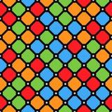 Modello della finestra di vetro macchiato con le forme geometriche semplici illustrazione di stock
