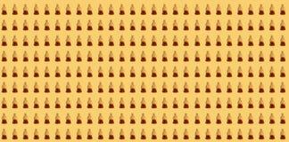 Modello della gelatina della cola su fondo giallo Fotografia Stock Libera da Diritti
