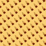 Modello della gelatina della cola su fondo giallo Immagine Stock Libera da Diritti